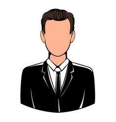 man in black suit icon icon cartoon vector image