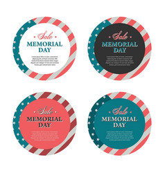 Memorial day banners and stickers vector