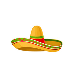 Mexican sombrero hat on a vector