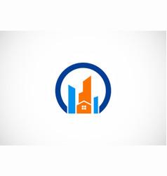 modern cityscape logo vector image