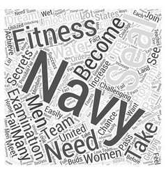 Navy seal fitness Word Cloud Concept vector