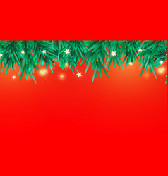 new year or christmas tree branches decorative vector image