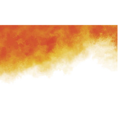 Orange watercolor paintbrush texture background vector