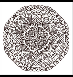 ornament hand drawn mandala blank geometric vector image
