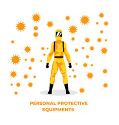 Personal protective equipments vector