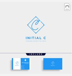 Premium c logo in gold color beautiful logotype vector