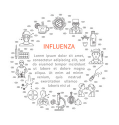 Prevention influenza round banner vector