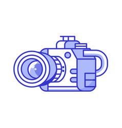 professional dslr camera icon vector image