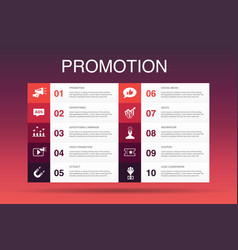 Promotion infographic 10 option template vector