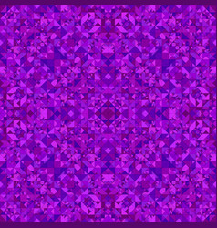 Purple seamless abstract triangle mosaic tile vector