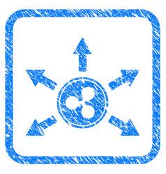 ripple cashout arrows framed stamp vector image