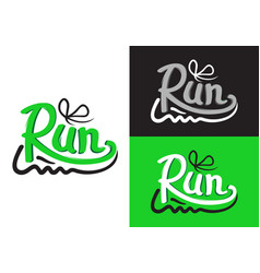 Running shoe symbols on different background vector