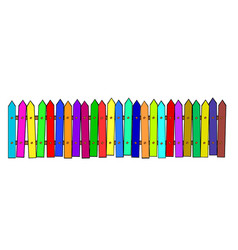 rural wooden colorful cartoon fence stock vector image