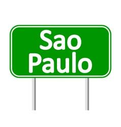 Sao Paulo road sign vector