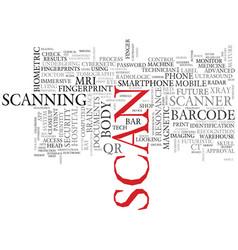 Scan word cloud concept vector