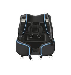 Scuba diving gear buoyancy compensator vector