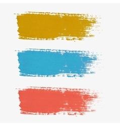 Set colored paint-splatter vector
