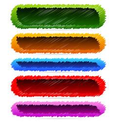Sketchy banner backgrounds vector