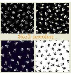 Skull seamless vector