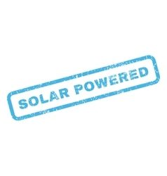 Solar Powered Rubber Stamp vector