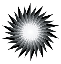 Spiral radiating sun burst vector image