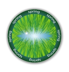 spring label vector image
