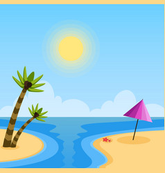 summer holidays day flat background vector image