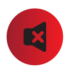 Thin line mute icon vector