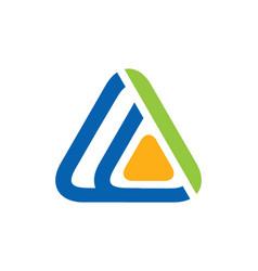 Triangle technology media abstract logo vector