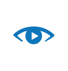 Video watching icon vector