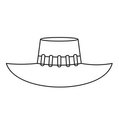 Woman hat icon outline style vector