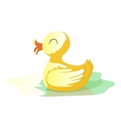 Yellow duck icon cartoon style vector
