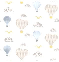 Baby pattern design Nursery kid background vector image vector image