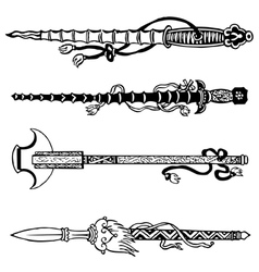 Chinese swords vector image vector image