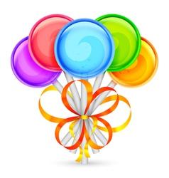 Color lollipops vector image vector image