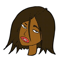 comic cartoon annoyed woman vector image vector image