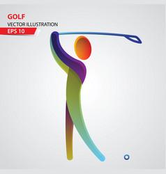golf color sport icon design template vector image vector image
