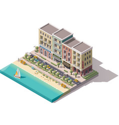 isometric town street vector image