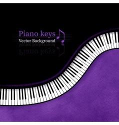 Piano keys background vector image