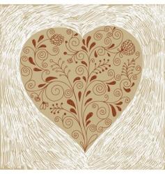 valentines card handdraw vector image