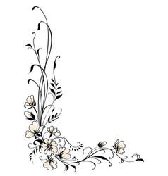 floral background pink flower vector vector image