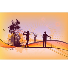 Golf club Silhouettes vector image vector image