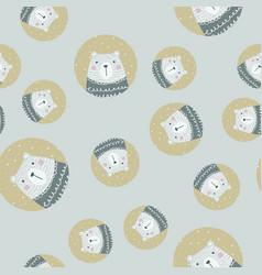 scandinavian seamless pattern with polar bear vector image vector image