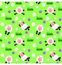 seamless sheep background vector image vector image