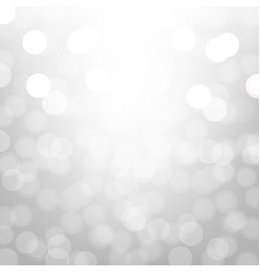 silver background with bokeh vector image