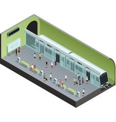 Subway Station Isometric vector image