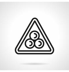 Billiard pyramid simple black line icon vector