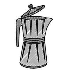 italian coffee maker icon vector image