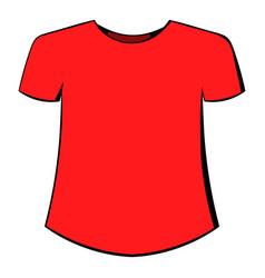 men t-shirt icon cartoon vector image