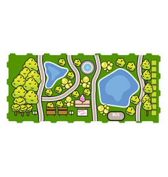 park top view vector image vector image